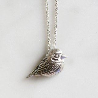 Petite Fille Female Unfinished Silver Mini Collection Sparrow Silver Pendant