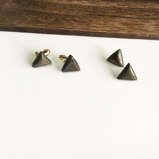 Pyrite simple earring