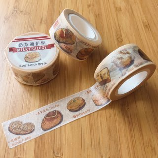 Tea house high tea illustration masking tape 06: Bread & Bun