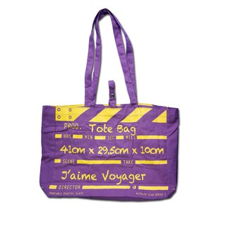 Director Clap Tote Bag - Purple