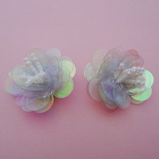 Spangled Flower Earrings / Aurora
