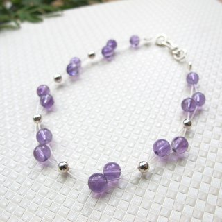 [Purple Purple Elf] Birthstone in February - Amethyst x 925 Silver - Handmade natural stone series