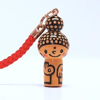 mini Kokeshi * Amitabha customers * strap * smiling [13]