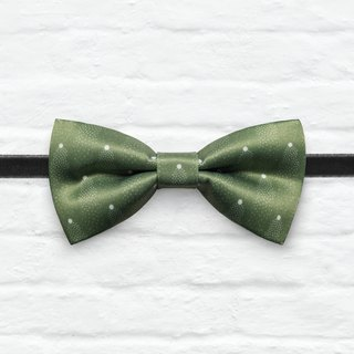 Style 0099 Grass Green Mini Dots pattern Bowtie - Grass Green Wedding Bowtie