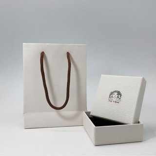 Add-On - Big Square Gift Box Plus Paper Loop Bag - Exquisite Small Jewelry Case