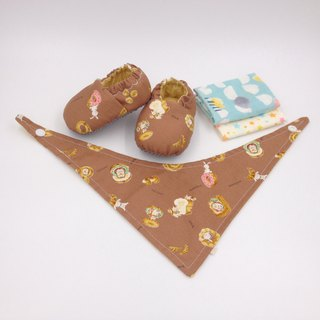 Delicious bread - Miyue baby gift box (toddler shoes / baby shoes / baby shoes + 2 handkerchief + scarf)