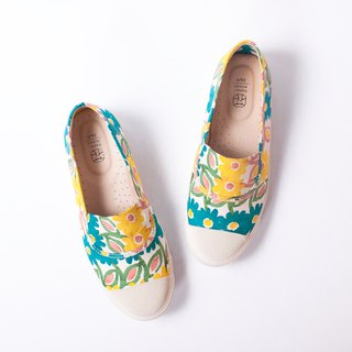 Fruit Day | Summer Flower Flower Shoes. Refreshing. Japanese cloth. Elastic elastic design. Leather insole