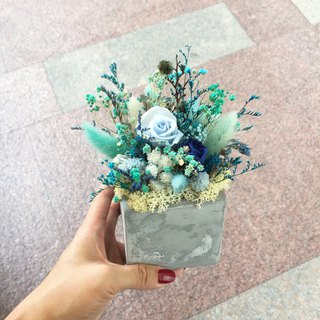 //Loft style// Tiffany Blue Dry Bouquet / Store Decoration Office Small Object Shooting Props