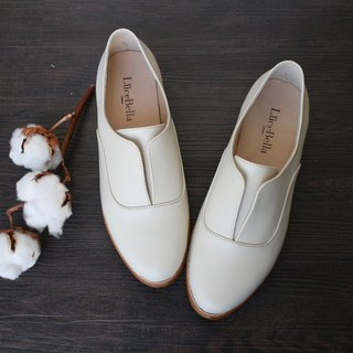 【Jazz mood】 simple lines Oxford shoes - white