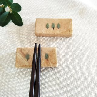 Ceramic trees chopsticks holder