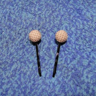 (C) Caramel Ma Qi Duo _ cloth button small hairpin C20ASX63