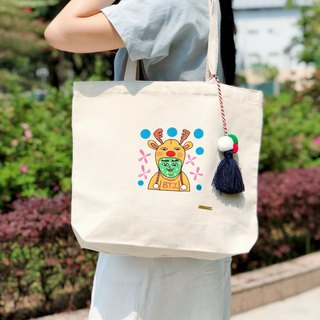 Belongs To J. Embroidery Tote-bag - Mr. Fat Fat's smile
