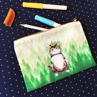 Storage bag / Pencil ★ ★ Forest Cat cat glass ball