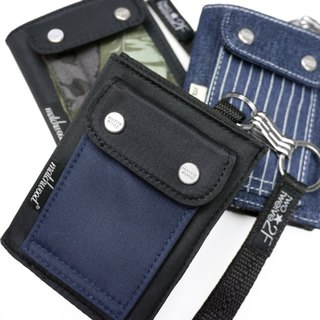 Matchwood Wood Design Matchwood Wallet Wallet Short Wallet Wallet High Quality Wallet Navy Blue Black