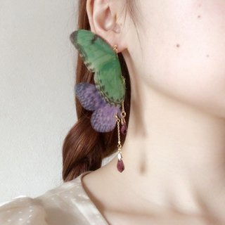 One shot butterfly earrings Harajuku kawaii girly vintage