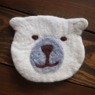 Cup coasters, Felt coasters Animal_Polar bear