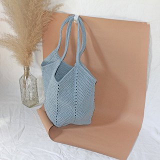 Grayish Blue Tote bag ,Market bag ,Crochet bag ,Shopping bag