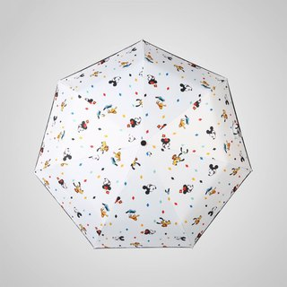 [Germany kobold] Disney officially authorized -7K rain and rain dual-use umbrella - Mickey family - white