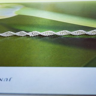 925 sterling silver simple personality [water ripple thick bracelet]