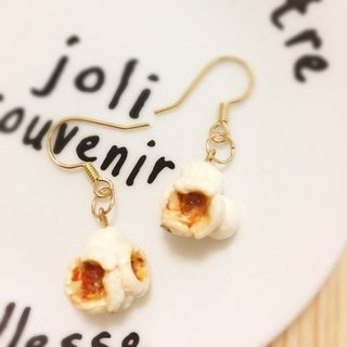 Popcorn earrings (can change ear clip type) + popcorn bracelet 1 + 1 combination Gui honey jewelry ((600 full to send a small mystery gift))