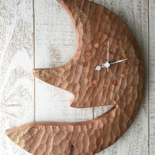 moon wall clock plane tree