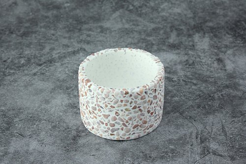 Cement Products - Succulent Pots - Round Pots - Rhododendron - 7.8cm High 5cm in Diameter