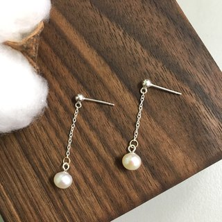Handmade Freshwater Pearl Silicone Ear Clips[Meteors] - Philosopher Series Gift Pearl Ear Ear Clips