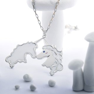 Kissing Unicorns Pendant, Unicorn Pendant, Unicorn Necklace,