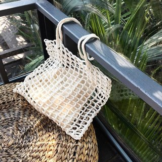 White Nagridia Crochet Bag