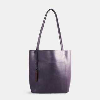 Influxx S1T1 - Basic Leather Tote - Purple Amethyst