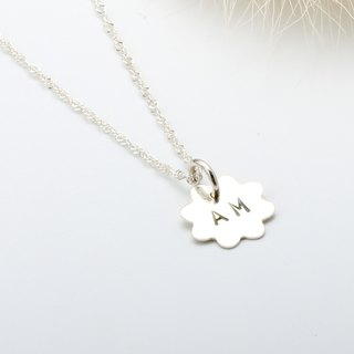 Custom sunshine stamping letter digit s925 sterling silver necklace
