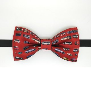 Red bus bow tie, red car bow tie, red car bowtie, bow tie, red necklace,