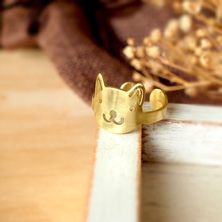Cat face ring (adjustable free size)