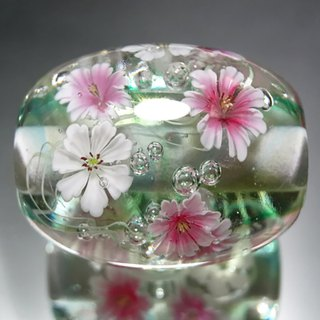 Cosmos tempered beads glass beads