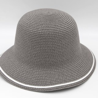 [Paper cloth home] two-color fisherman hat (gray) paper line weaving