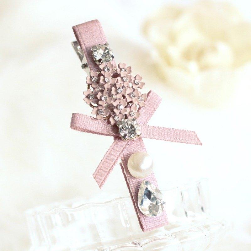 浪漫搪瓷花飾髮夾