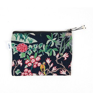 은 혜 직 물 pouch / Black Ten Longsheng cloth zipper bag S (13x9cm)