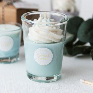Dessert Candle - Peppermint Milkshake 120ml Mint Milkshake - Handmade Natural Essential Oil Soy Candle