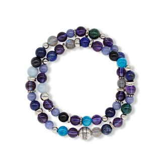 String series star magic bracelet 925 silver amethyst labradorite soda apatite tanzanite