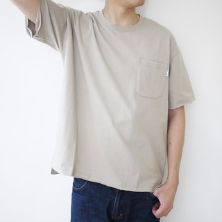 Wide Pocket Tee Wide Round Neck Pocket Tee/ Plain/Cotton/Lovers/Neutral