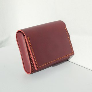 MINMIN- HANDMADE SMALL LEATHER GOODS/CARD HOLDER - RED WINE
