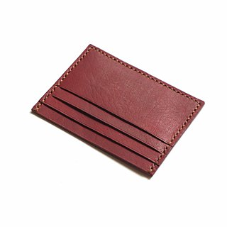 Credit Card Wallet/ Card Organiser in Brown Leather (Rounded Corner)
