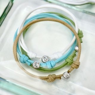 ITS-B761 [small series, small water droplets travel] swimming water wax rope bracelet 1