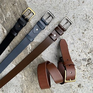 Italian vegetable tanned leather belt belt handmade design gift