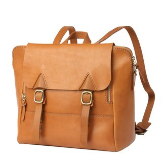 JIMMY RACING leather portable diagonal back 3way briefcase - camel 04166017