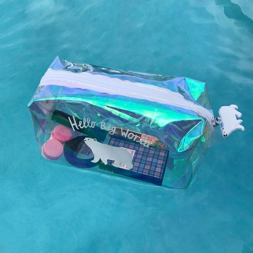 UPICK original life pvc transparent storage bag travel cosmetics storage bag swimming bag