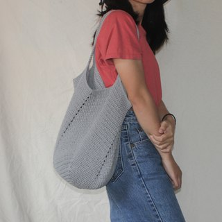 Grey Tote bag ,Market bag ,Crochet bag ,Shopping bag