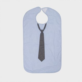 American Frenchie MC Light Blue Stripe Adult Waterproof Bib Gift Box