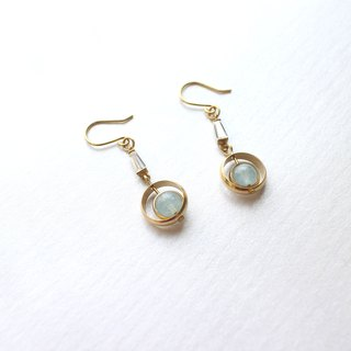 South island -Brass handmade earrings