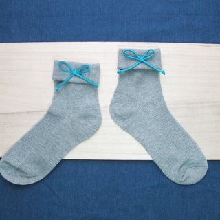Folding Socks / Wenqing section tied rope in the stockings / shallow gray / order orders